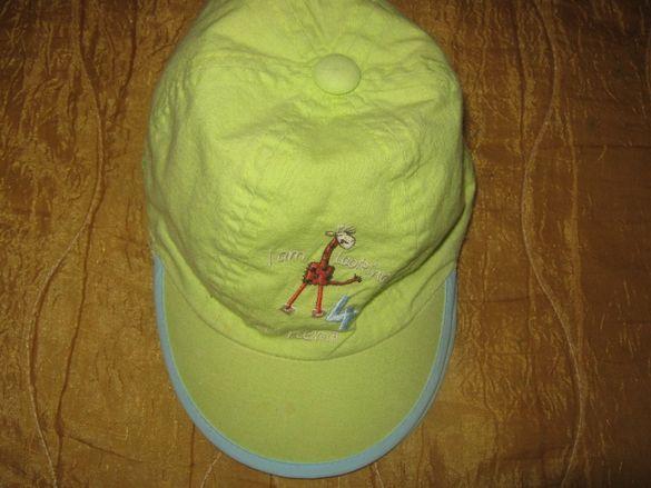 Бебешка шапка за слънце с козирка