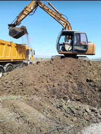 Săpături fundații,fose,drenaje,decopertări, demolări pământ negru