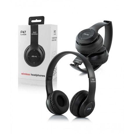 Безжични Bluetooth слушалки P47 Wireless, FM радио, MP3, Micro SD