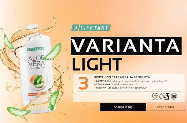 Gel de baut Aloe Vera cu Piersica 100% Natural