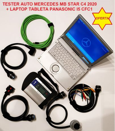 Kit Tester Auto Mercedes MB Star C4 + Laptop Panasonic I5 CFC1 Touch