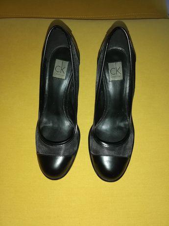 Calvin Klein обувки от естествена кожа
