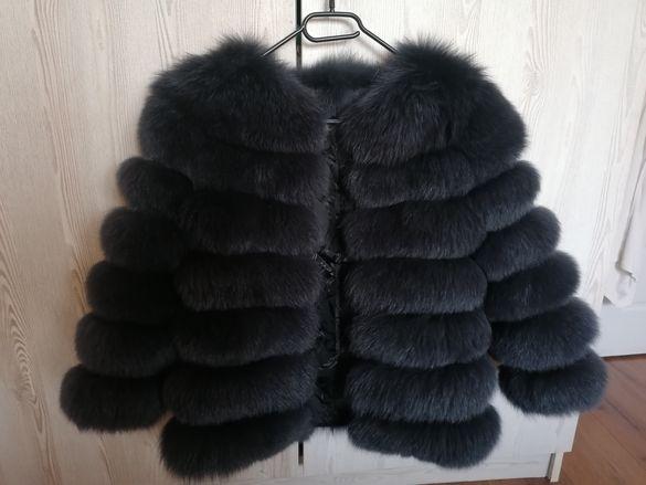 Палто естествен косъм