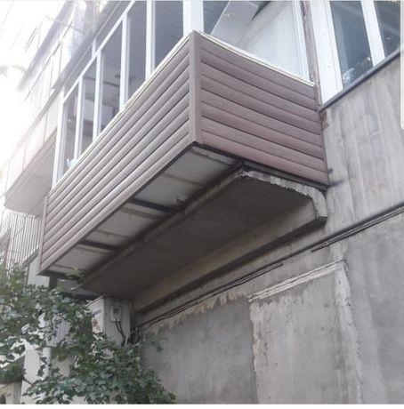Обшивка балконов, лоджий под ключ!Изготовление,установка окон,дверей!