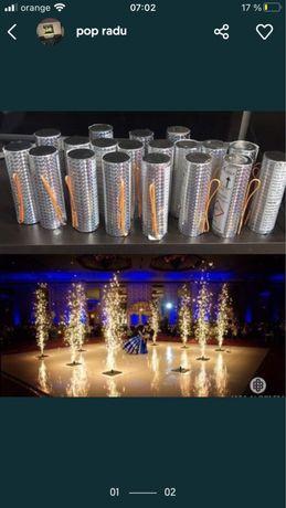 Artificii tip vulcani pentru interior nunta evenimente