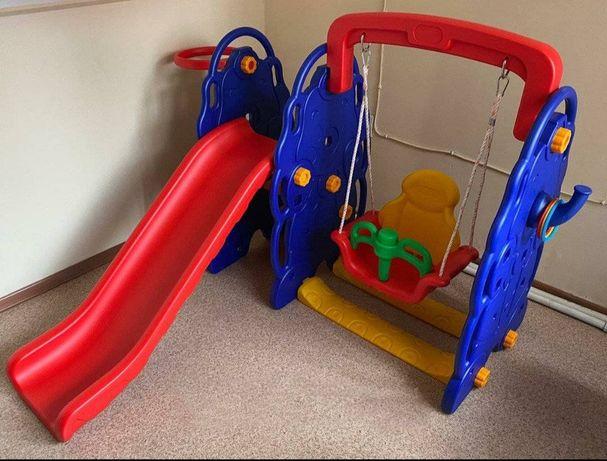 Детский игровой комплекс: горка + качеля «Слоник»