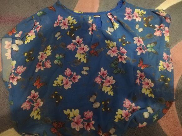 Дамска блуза с къс ръкав в талията с ластик