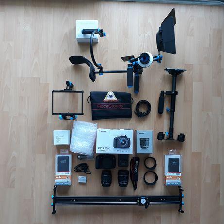 Camera Foto\Video DSLR Canon 700D+2 Obiective+Stabilizatoare+Accesorii