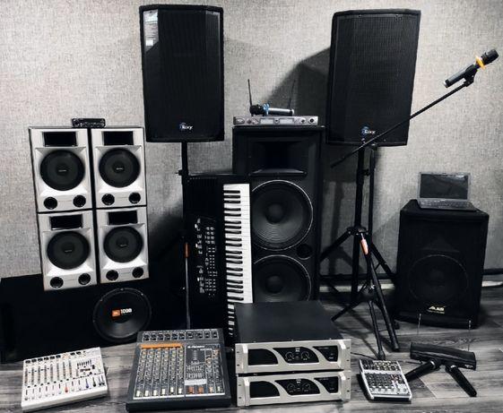 Музыкальная аппаратура, прокат, аренда, колонки