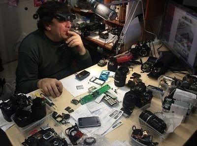 Ремонт фотоаппратов  фотокамер любых марок с мастером на выезд