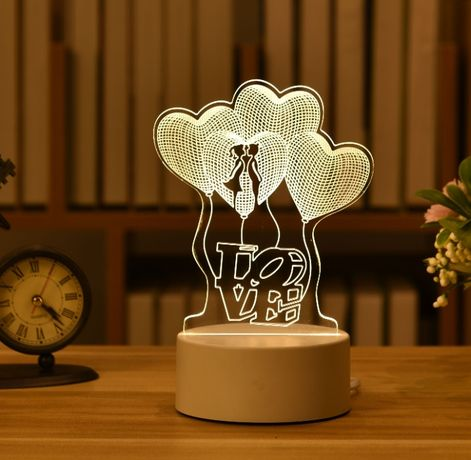 Lampa 3D Cadoul perfect Valentine's Day incarcare USB
