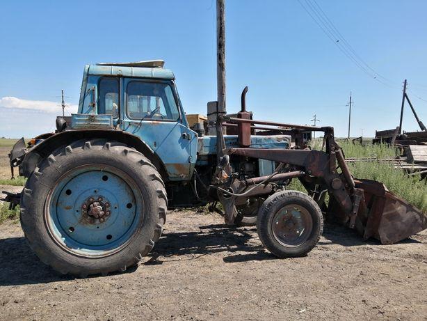 Продам МТЗ-80 с куном, сенная телега, стогамет