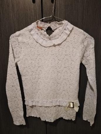 Бяла официална блуза