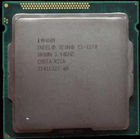 Xeon E3-1270 (Core i7 2600) socket 1155 (4 ядра\8 потоков)