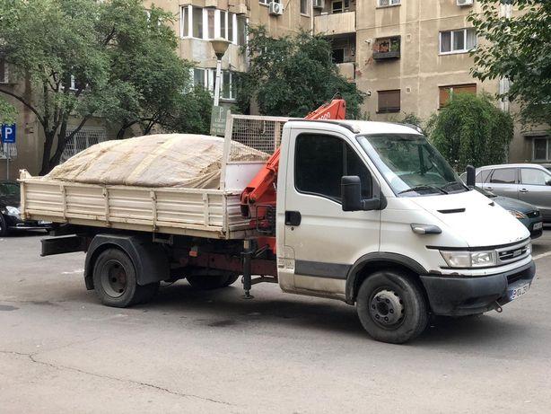 Transport moloz /nisip4-5mc pietriș/pământ de flori/evacuez moloz
