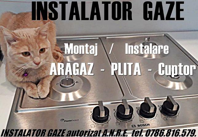 Montaj ARAGAZ PLITA cuptor, sect 1-6 INSTALATOR GAZE Autorizat montare