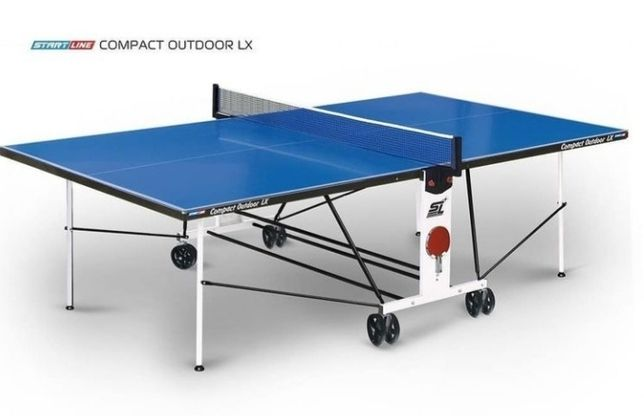 Всепогодный теннисный стол Start Line Compact outdoor 2 LX c сеткой