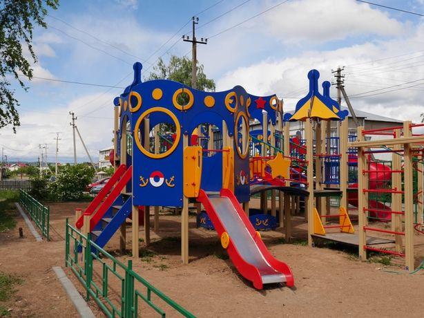 Детская Игровая Площадка, Комплекс Талдыкорган (качели, горка, песочн)