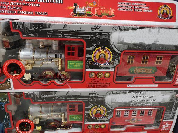 Детски влак локомотив със звук и светлини
