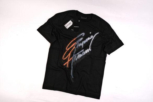 Emporio Armani- L и XL-Оригинална Мъжка черна тениска от органичен пам