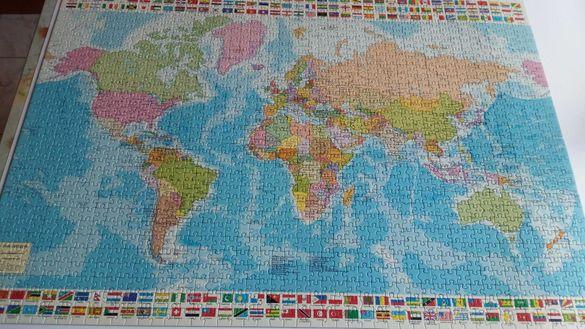 Нареден пъзел Политическа карта на света