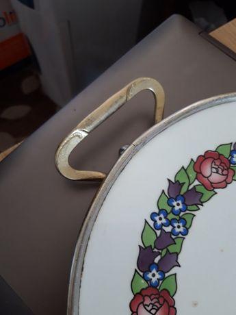 Platou ceramica faiantat