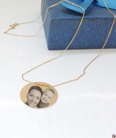 Lantisor aur 14 K 3.05 grame personalizat prin fotogravura