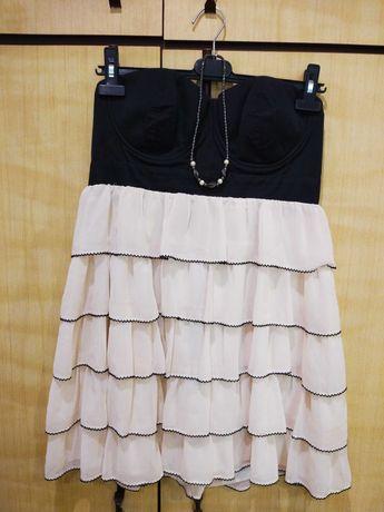 Дамски рокли S/M в бяло и черно + аксесоар