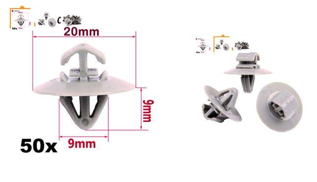 Clipsuri prindere bandouri laterale plastic Renault/Opel/Iveco/Mercede