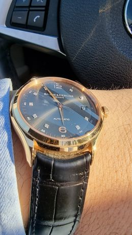 Ceas BAUME & MERCIER Clifton din aur masiv gold 18k diamante