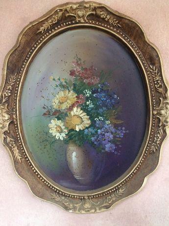 Vând 8 tablouri vechi pictate în ulei pe lemn!