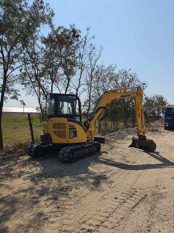 Excavator cu Picon Foreza Burghiu Sapatura canalizare apa fibra optic