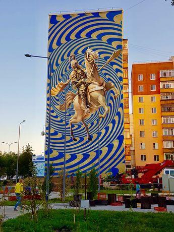 Художник,  граффити , роспись стен , фасадов зданий , муралы .