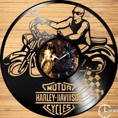Ceas de perete din lemn Harley Davidson | retro stil modern disc casa
