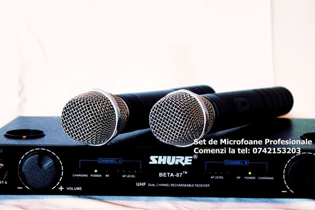Set microfoane fara fir Wireless peste Shure akg sennheiser
