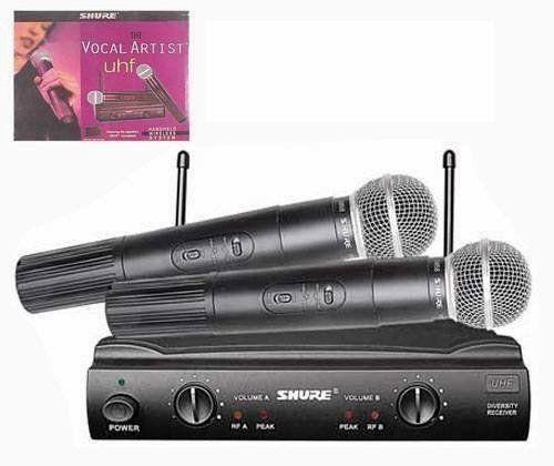 Set 2 MICROFOANE WIRELESS SHURE SM 58 Microfon Profesional