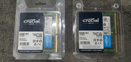 Kit DDR4 64gb 2x32 Crucial 2666mhz 1,2v CL19 laptop imac mac mini
