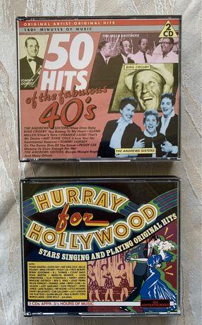 "Cd-uri muzica veche ""50 Hits from years '40 si ""Hurray for Holywood"""