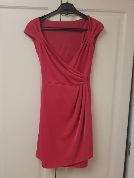 Rochie de ocazie, mini, roz, marimea 36