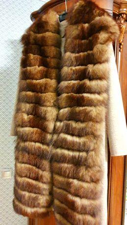Продам пальто-трансфомер  из альпаки с мехом (финский песец)