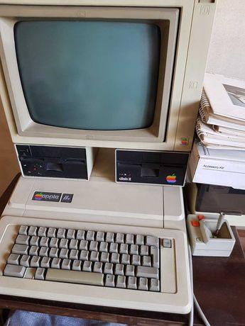 Apple IIe 2e computer, 2x Disk, imprimanta + manuale originale