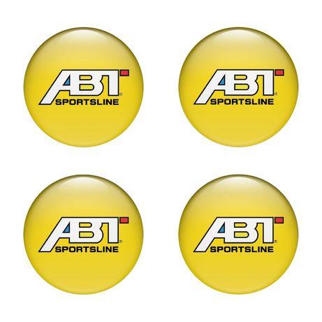 Силиконови стикери за капачки на джанти ABT размери 40мм до 90м