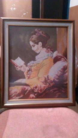 Момиче с книга-гоблен