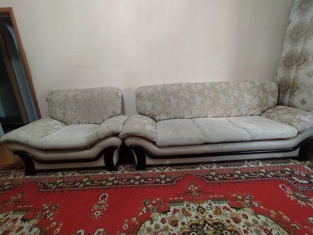 Диван+кресло в хорошем состоянии