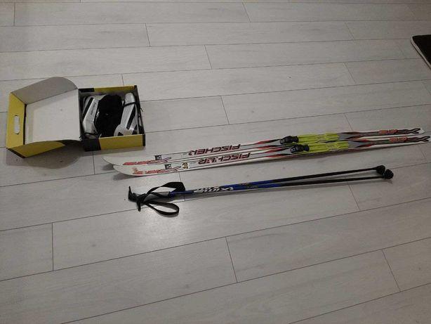 Лыжи Fischer (комплект), ботинки, палки