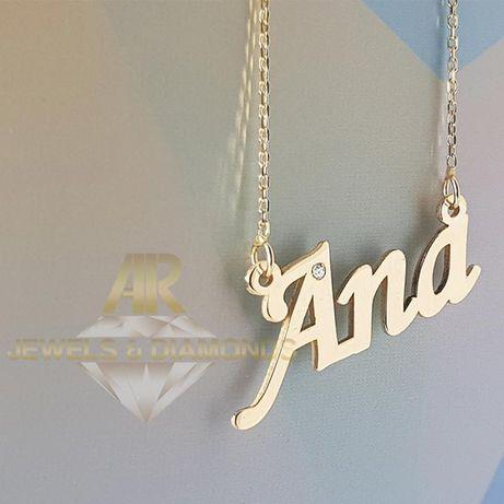 Lantisor Aur 14 K personalizat cu Nume la alegere model ARJEWELS