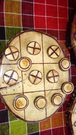 Дървен морски шах и дървени часовници ръчно изработени