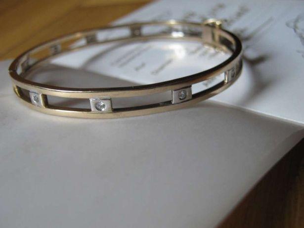 Bratara Aur 14k cu Diamante 14.5gr.