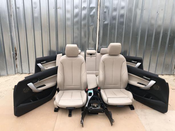 Interior BMW SERIA 1 F20 Electric piele alba