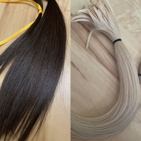 Волосы натуральные 1 темные / 1 болонд